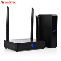 Measy HD595 5,8 ГГц 450 м/1500 футов HDMI Беспроводной AV аудио видео передатчик Отправитель Получатель адаптер для ПК ТВ коробка DVD проектор