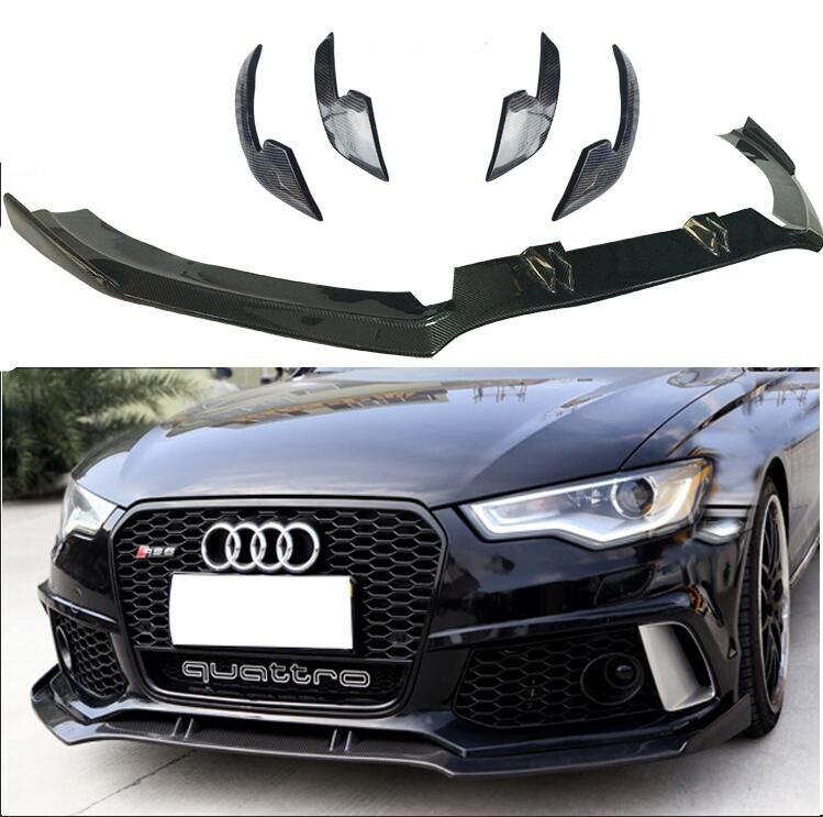 Lèvre de pare-chocs avant de voiture en Fiber de carbone JIOYNG, diffuseur de voiture automatique pour Audi A6 S6 RS6 C7 2012 2013 2014 2015 2016 2017 2018