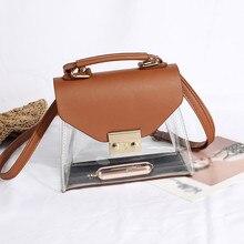 Womens bag Fashion Transparent Jelly Scarf Retro Wild Should
