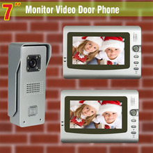 7 Inch Video Door Phone Intercom Aluminum Alloy camera  Visual Intercom Doorbell Video Intercom Doorphone Door Bell System