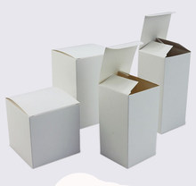 50 pcs Foldable white kraft Paper box Cardboard gift box with lid ,Jewelry Event Wedding Candy Chocolate Cake DIY Soap Packagin(China)