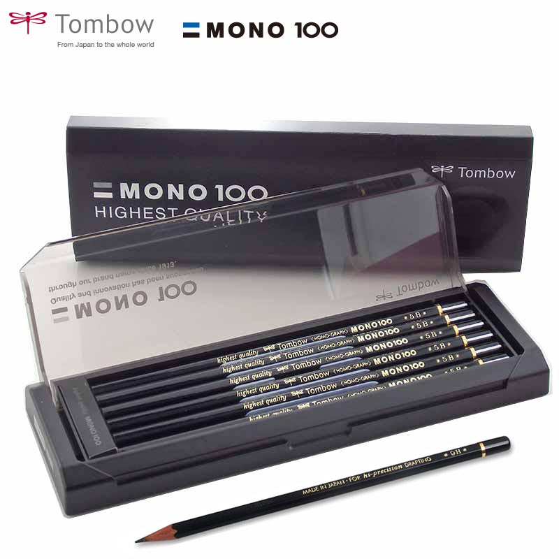 TOMBOW MONO 100 HB Wood-cased Pencils 12-Pack