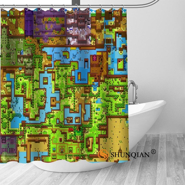 New Legend Of Zelda Map 01 Shower Curtain Bathroom Decorations For Home Waterproof Fabric Bath A1813