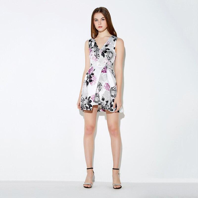 e51eaed366074 US $21.55 |MY MAYAASOS 2016 Brand New Sleeveless Sexy Floral Print Zipper  Back Elegant Mini Dress V neck Straight Party Short Dresses-in Dresses from  ...
