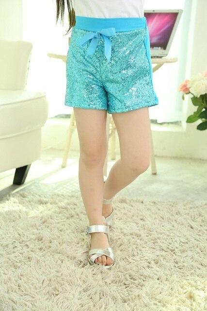 fad99b65c68e5 Short paillette tenue anniversaire filles bleu paillette short enfant  paillette short turquoise fille short anniversaire tenue