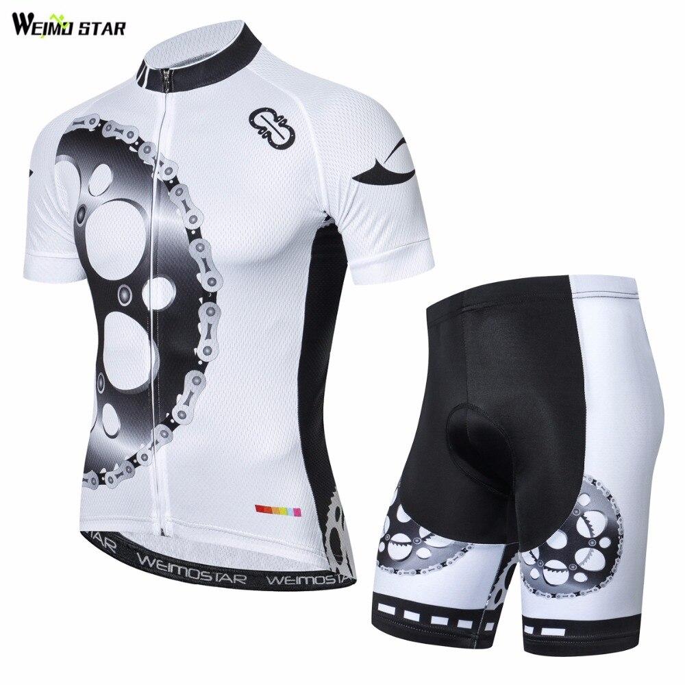 где купить 2018 WEIMOSTAR Men Summer gear Clothing Cycling Jersey Sets ropa ciclismo Bike team short sleeve outdoor racing Sport clothes по лучшей цене