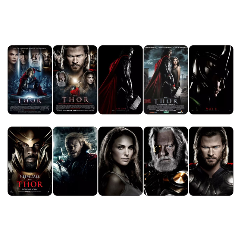 Marvel Hero Movie Collectible Sticker Card Thor Mini Poster Decoration Scrapbooking Planner Stickers