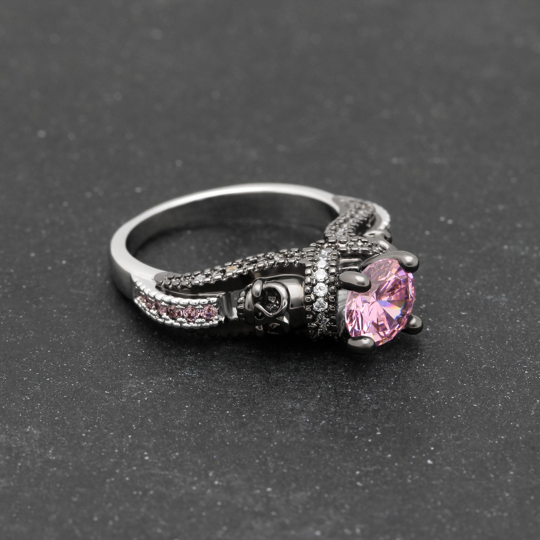 Party Ring Birthstone Skull Ring 10