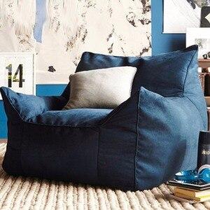 Image 1 - כסא שקית שעועית ספה כיסאות מושב סלון ריהוט ללא מילוי עצלן מושב זאק הפופים Levmoon פוף כיסא פגז