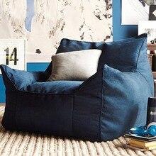 Puf sofá tumbona sillas asiento Sala muebles sin relleno asiento perezoso zac Beanbags Levmoon Beanbag silla Shell