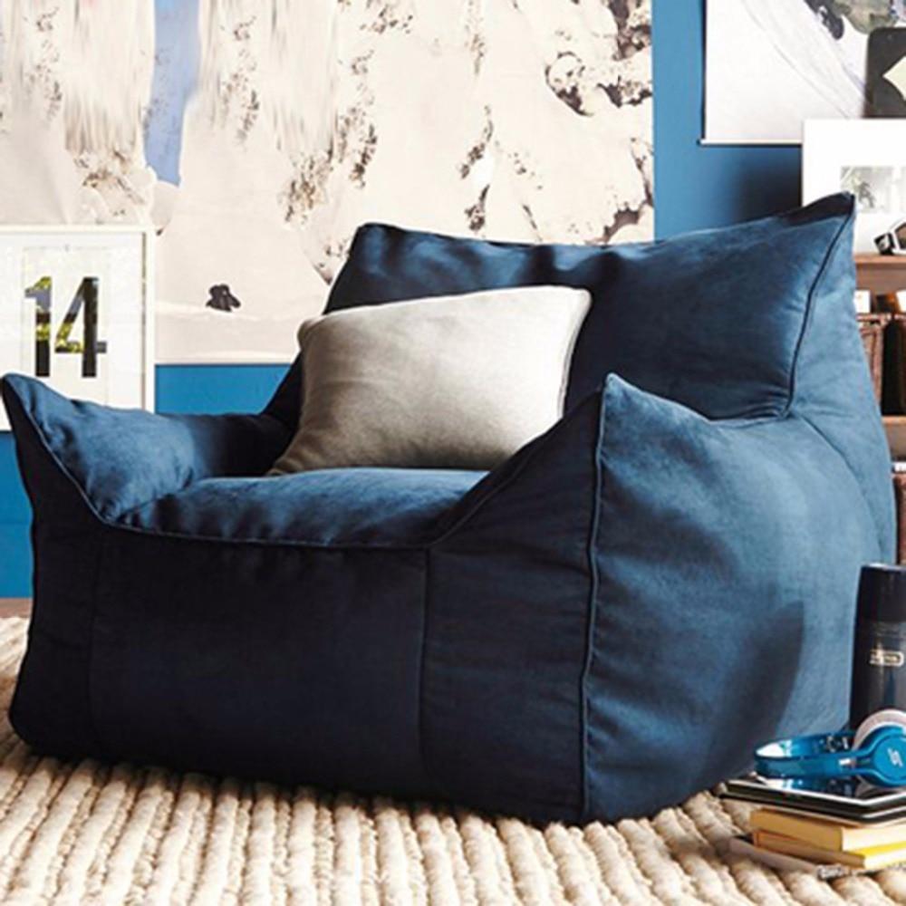 Saco de feijão espreguiçadeira sofá cadeiras assento sala de estar móveis sem enchimento preguiçoso seat zac beanbags levmoon beanbag cadeira concha