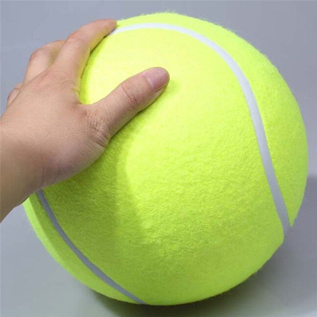 24CM Giant Tennis Ball For Dog Chew Toy Big Inflatable Tennis Ball Signature Mega Jumbo dog Toys Pet Supplies Outdoor Cricket