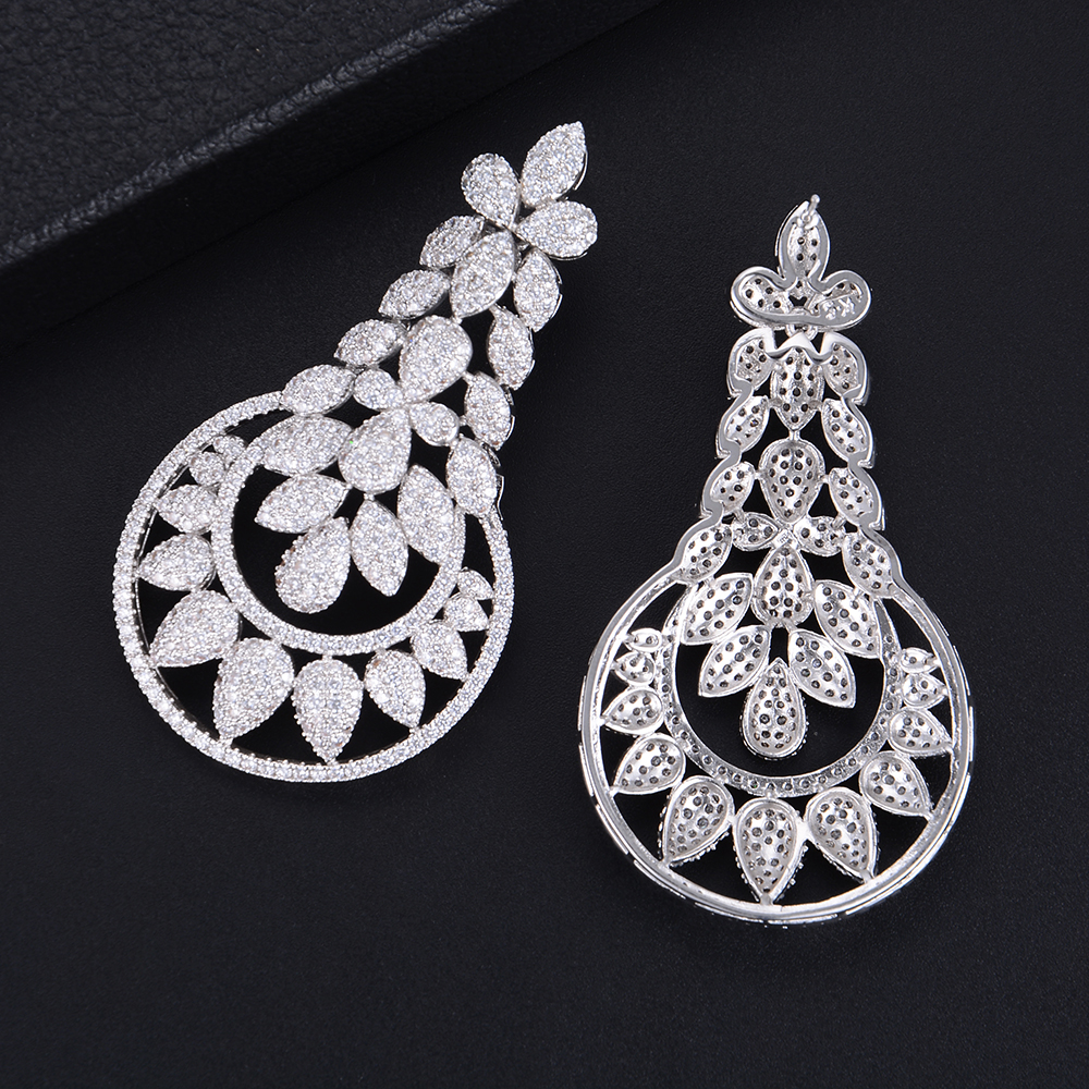 missvikki Sterling Silver Jewelry Pendant Earrings with CZ For Women Bridal Wedding Engagement Anniversary Prom Party Jewelry