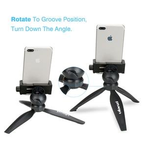 Image 3 - Ulanzi Mini Telefon Stativ Tabletop Montieren Smartphone Clip Halter Stehen w Abnehmbare Kugelkopf für iPhone X/8/7 Plus Huawei xiaomi