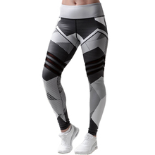 New Women Sporting Leggings Print Patchwork Workout Women Fitness Legging Pants Slim Wicking Force Exercise Clothes