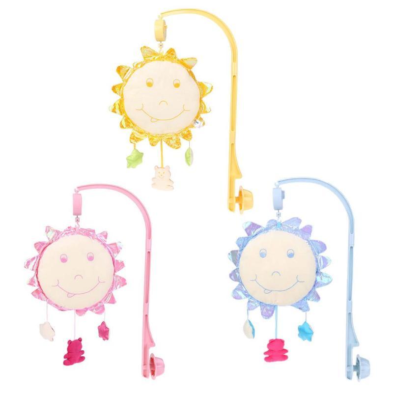 Детские музыкальные вращающийся солнца цветы висит колокол кроватке игрушка-погремушка кровать кольцо игрушки мультфильм раннего обучени... ...