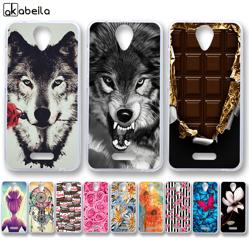 AKABEILA Soft TPU Phone Cases For Wiko Harry 5.0 INCH Covers Nutella Flamingo Tetris Silicone Housing
