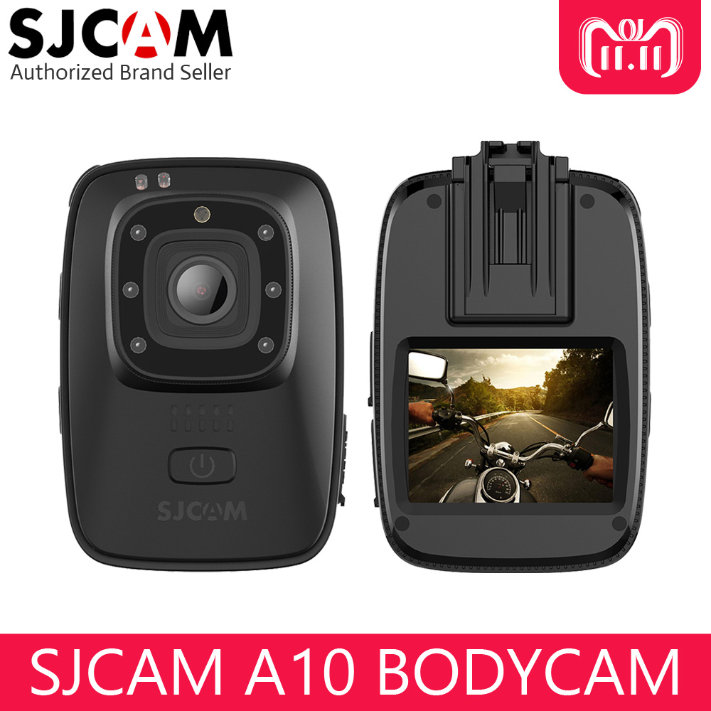 все цены на SJCAM A10 Portable Body Camera Wearable Infrared Sports Camera IR-Cut Night Vision Laser Positioning Action Camera Long Power онлайн