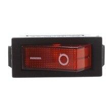 AC 16A/250V 20A/125V Red Light Illuminated On Off SPST Boat Rocker Switch x 5 Pcs