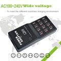Showkoo multi carregador usb eua ue uk plug 12 portas usb Adaptador de Alimentação Carregador de parede do Desktop Portátil USB Viagem Carregador de Telefone Inteligente