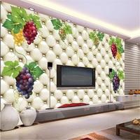 Beibehang תרמילי בד משי נייר קיר ציור קיר הטלוויזיה 3D סטריאוסקופית 3D עיצוב ספה קיר תמונה קיר קיר טפט גפנים ירוקות