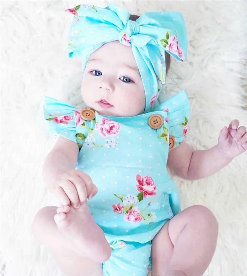 2pcs/Set Newborn Baby Clothes Sleeveless Girl Boy Clothes Casual Design Cotton Baby Rompers With Headband de bebe costumes