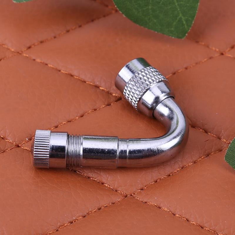 1pcs Car Motorcycle Metal Tire Valve Stem Extension with 45 90 135 Degree Adaptor for motorcycle automobile Electric vehicles
