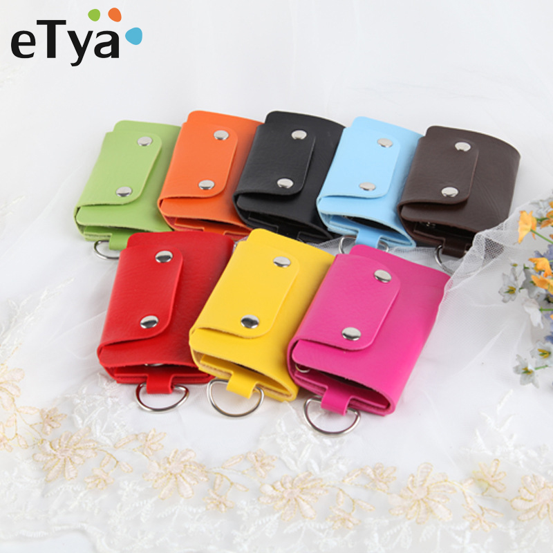 ETya Leather Keychain Men Women Key Holder Organizer Pouch Car Key Bag Wallet Housekeeper Key Case Fashion Mini Keys Bags