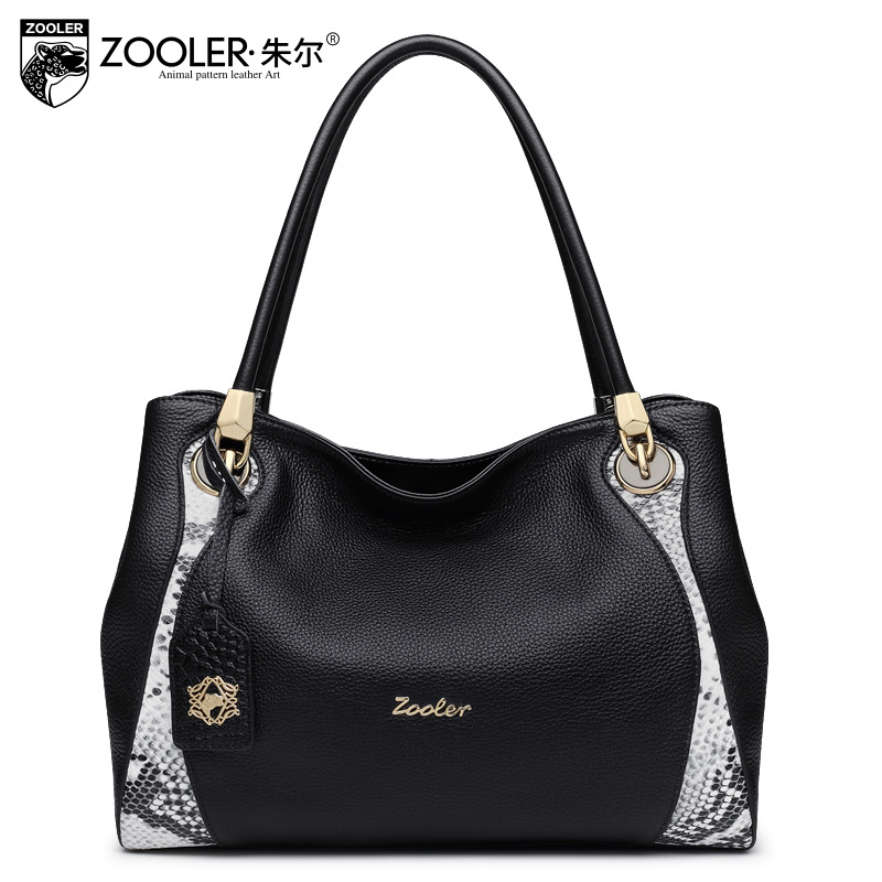 ZOOLER Fashion Serpentine Pattern Genuine Leather Tote Bags Handbags Women Famous Brands Cowhide Messenger Shoulder Bag Ladies люстра crystal lux fontain sp8