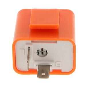Image 5 - 1 Pcs 12V 2 핀 조정 가능한 주파수 LED 성 노출증 릴레이 차례 신호 깜박이 표시기 대부분의 오토바이 오토바이 액세서리