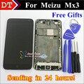 Высокое Качество Новый MEIZU ЖК-Дисплей + Сенсорный Экран Digitizer Для Meizu MX3 M055 MX065 Мобильного Телефона Черный Цвет С кадр