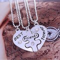 Kittenup 2016 New Style Broken Heart 3 Parts Pendant Best Friend Forever Necklaces For Women Jewelry HL0006