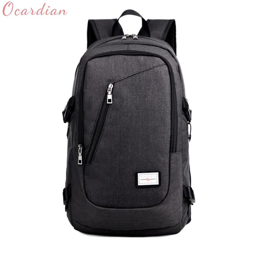 Business Water Resistant Polyester Laptop Backpack with USB Charging Port and Lock Fits Under 17-Inch Laptop and Notebook Au30 for pc and mac nobletlocks ns20t xtrap notebook cable lock laptop lock 6feet