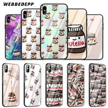 WEBBEDEPP Tumblr Nutella Tempered Glass Phone Case for Apple iPhone XS Max XR X 8 7 6S Plus 5S SE(China)