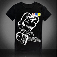 New 2017 Summer Fashion Super Mario Design T Shirt Men's High Quality Comfortable O-Neck