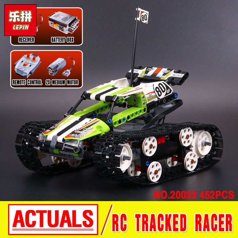 2017 New LEPIN 20033 397Pcs Technic Radio Controlled Tracked Racer Model Building Kits  Blocks Bricks Toys Gift 42065 Funny Gift 2017 new lepin 20009 1977pcs technic claas xerion 5000 trac vc model building kits blocks bricks compatible toys gift with 42054