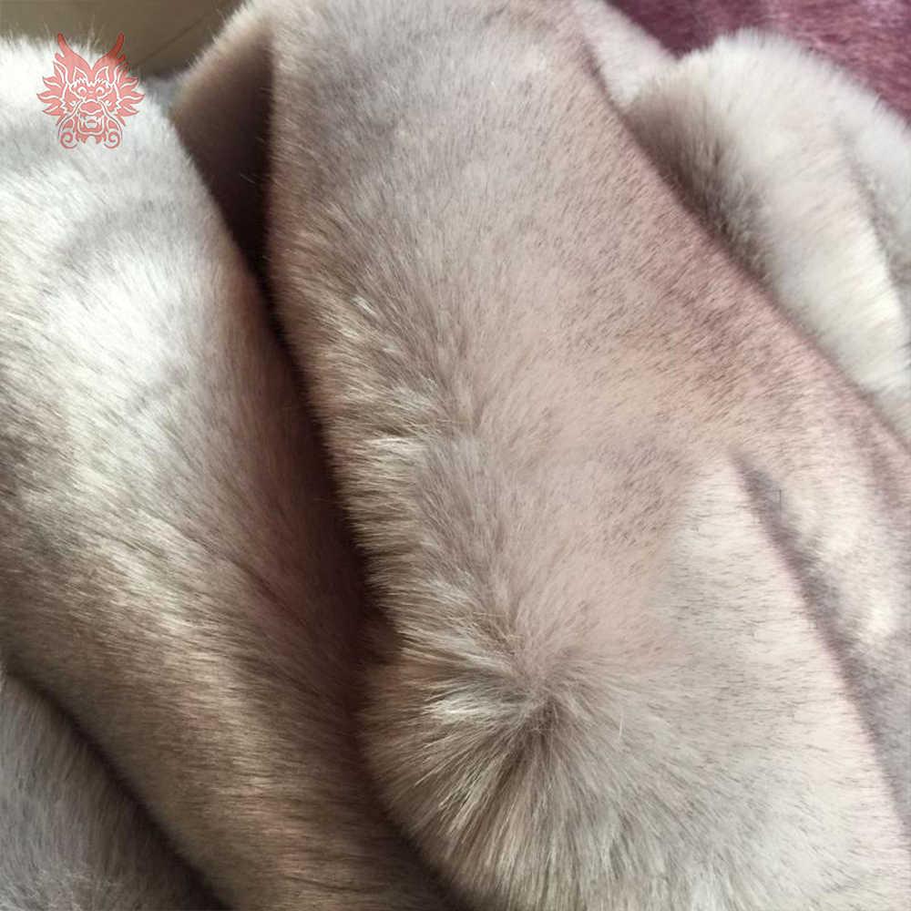 Серый Белый меланжевый Топ окрашенная искусственный Лисий мех Ткань плюшевые искусственный мех куски ткани tecidos stoffen для DIY 180 * см 50 см 1 шт. SP4606