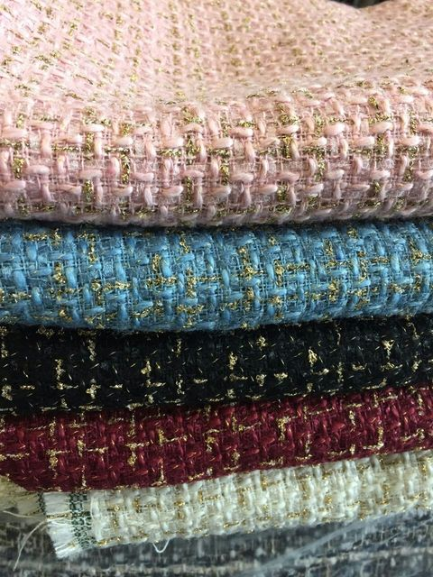 free ship tweed fabric warm color soft feel weaved Needled fabrics 5 colors  for choice price for 1 meter 150cm 5309fda73712