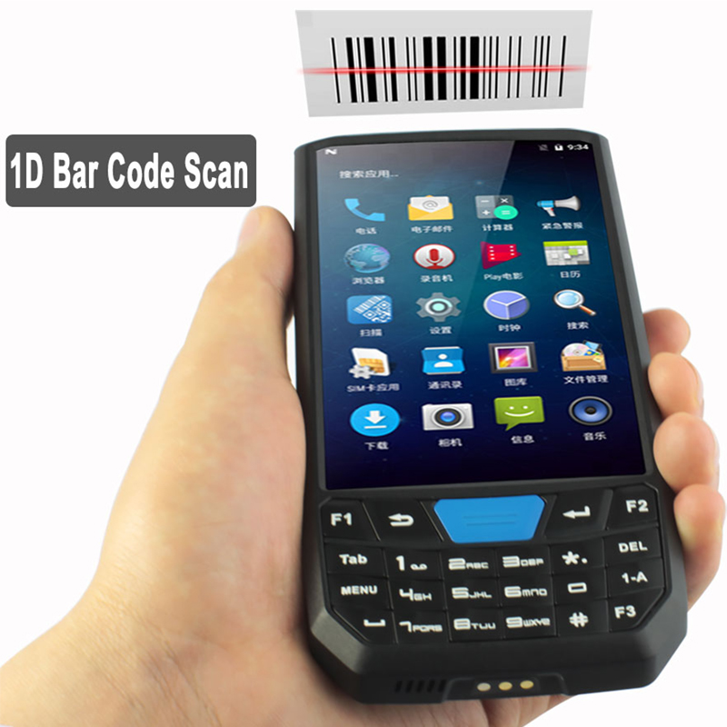NEW 2019 Scanner 1D/2D QR Bar Code Handheld Terminal PDA Data Collector 4G LTE Android7.0 for Warehousing Inventory Logistics