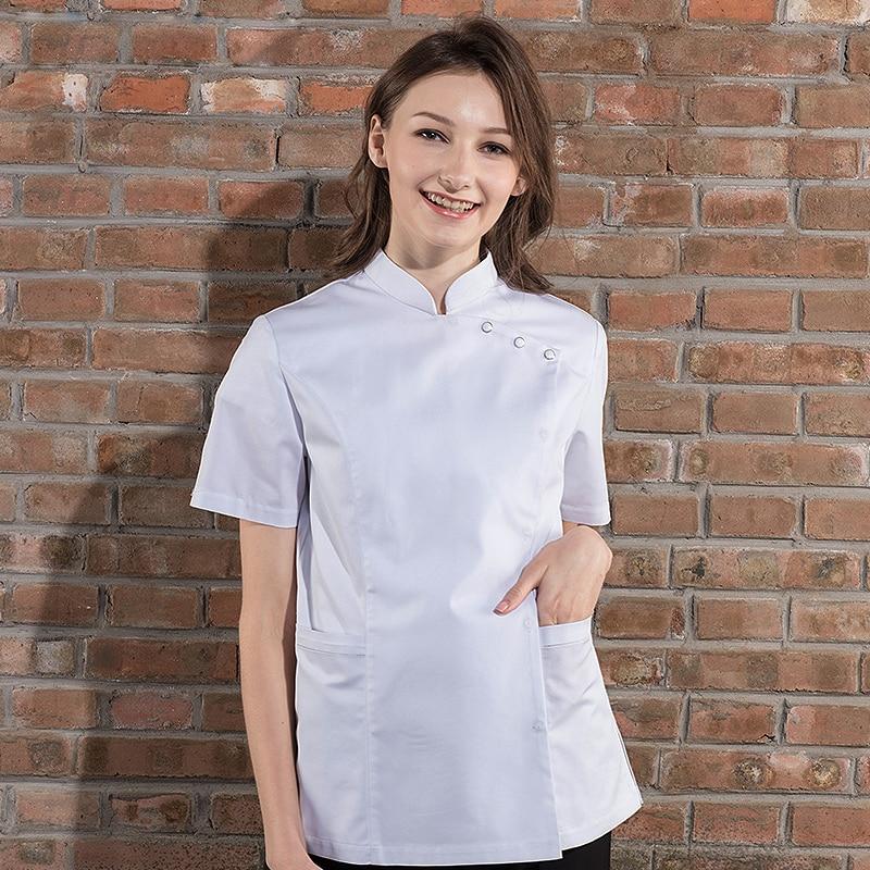 Femelle Restaurant Cuisine Vestes Hôtel Chef Cuisine Uniforme d'été Salon de Coiffure Café Sushi Serveur cuisine vêtements de travail