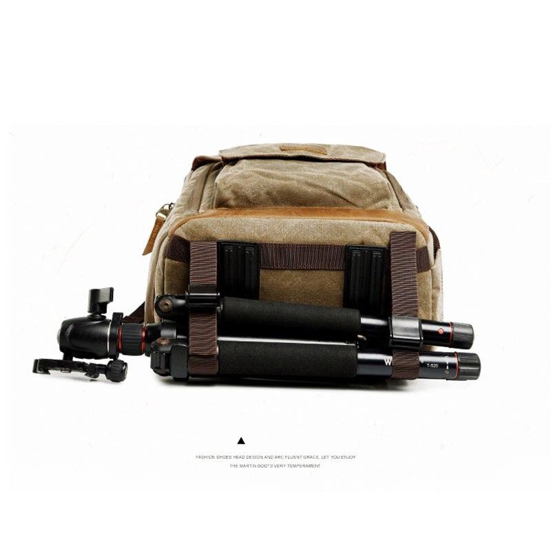 Batik toile caméra sac à dos en plein air sac étanche sac de photographie multifonctionnel pour Canon pour la plupart des sacs reflex numériques - 6