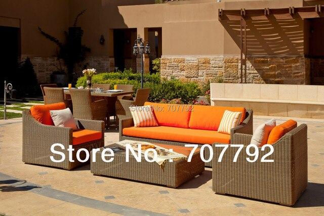 2013 Nuevo Diseño de mimbre al aire libre muebles de terraza ...