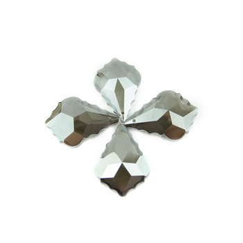 Wholesales 63mm Black Grey 30pcs Maple Leaf Chandelier Drop Pendants For Diy Lamp&Lighting Decoration