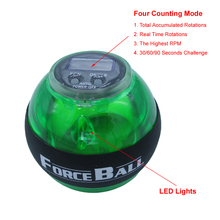 Top Quanlity Men's Force Ball with LED Counter for Increasing Arm Strength, Brand Fitness Ball for Training Wrist Power L704(China)