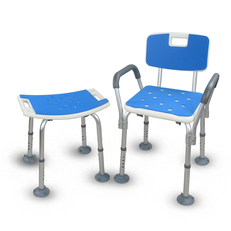 Bath Chair Anti-skid Bath Stool Pregnant Woman Shower Stool Aluminum Bath Chair for Elderly or Disabled the Aged Old Man