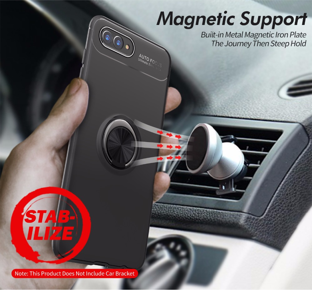 Magnetic Car Holder TPU Case For Huawei Nova 2 2s Lite Case Finger Ring Phone Anti-knock Cover For Huawei Nova Life 3E Coque