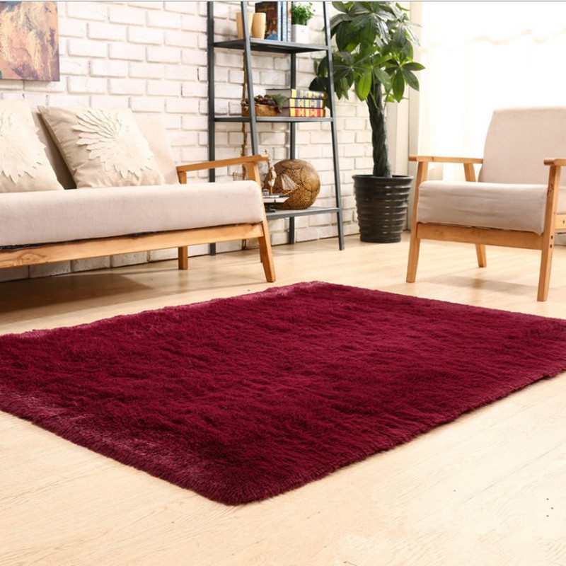 Free shipping 700mmx1700mmx45mm stylish solid color - Colorful rugs for living room ...