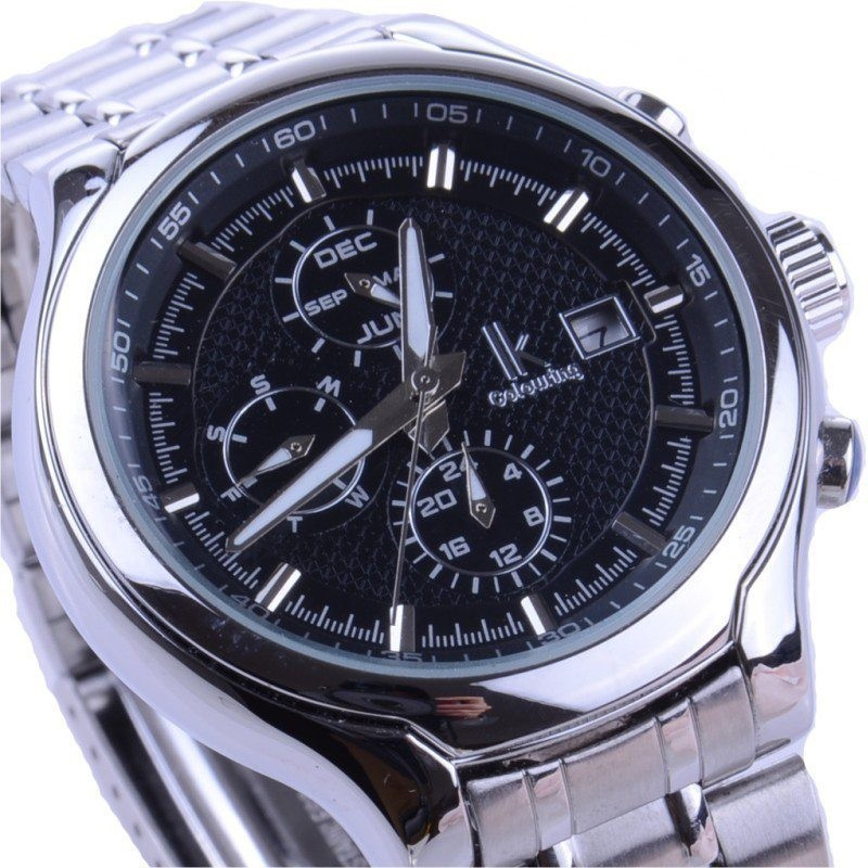 New fully automatic mechanical wristwatches classic male casual commercial men s Business Stainless Sport Fashion watch