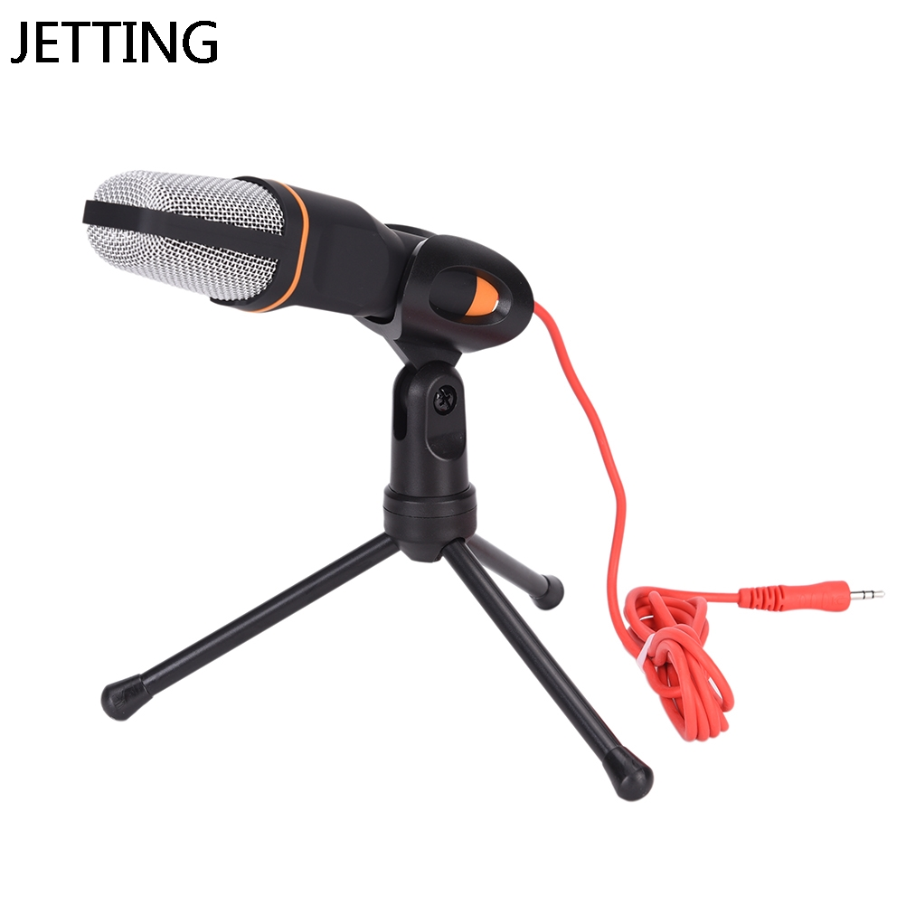JETTING 3.5mm Condenser Voice Studio Recording Podcast Microphone with stand holder mikrafone for Computer PC Notebook Laptop