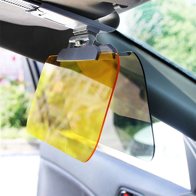 Car Accessories Day Night Anti-dazzle Car Sun Visor HD Dazzling Goggles Driving Mirror UV Fold Flip Down HD for Clear View Visor